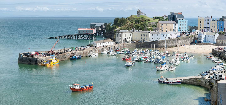 Le port de Tenby - Pembrokeshire - Pays de Galles