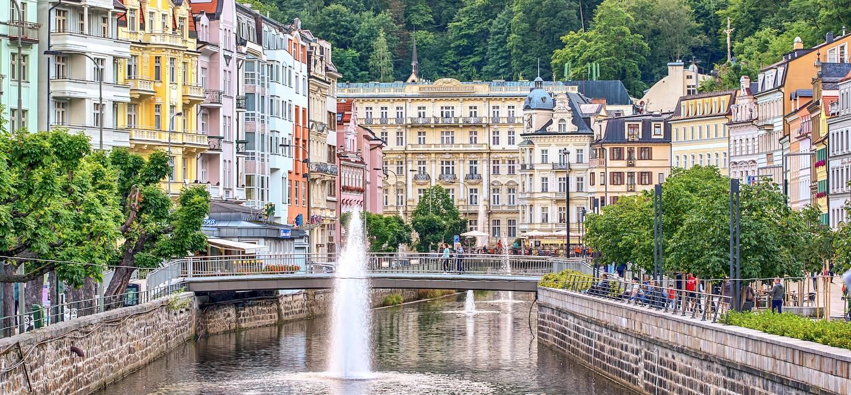 Centre ville de Karlovy Vary - Bohême - République Tchèque