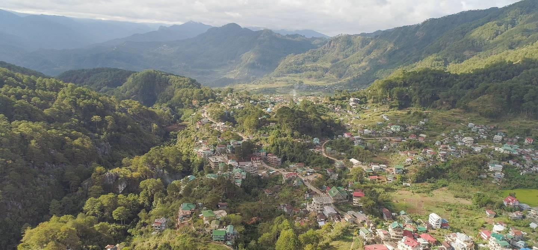 Vue aérienne de Sagada - Mountain Province - Philippines
