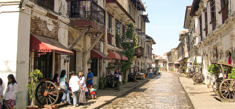Dans les rues de Vigan - Région d'Ilocos Sur - Philippines