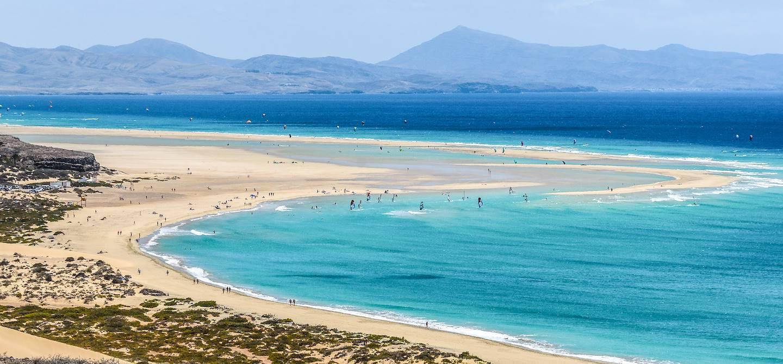Plage de Sotavento - Ile de Fuerteventura - îles Canaries - Espagne