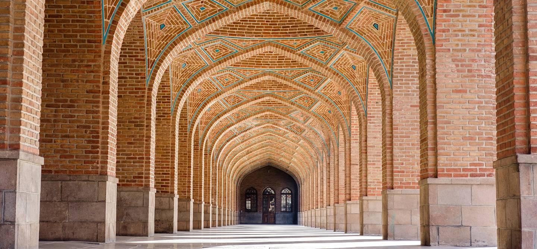 Arcades de la Mosquée Bleue - Tabriz - Province de l'Azerbaïdjan oriental - Iran
