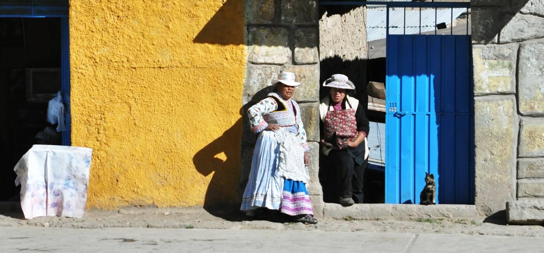 Dans le village de Cabanaconde au coeur du Canyon de Colca - Pérou