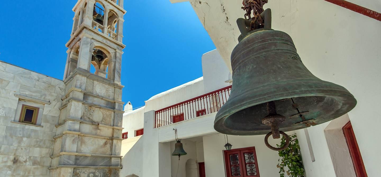 Beffroi du monastère de Tourliani - Ano Mera - Mykonos - Cyclades - Grèce