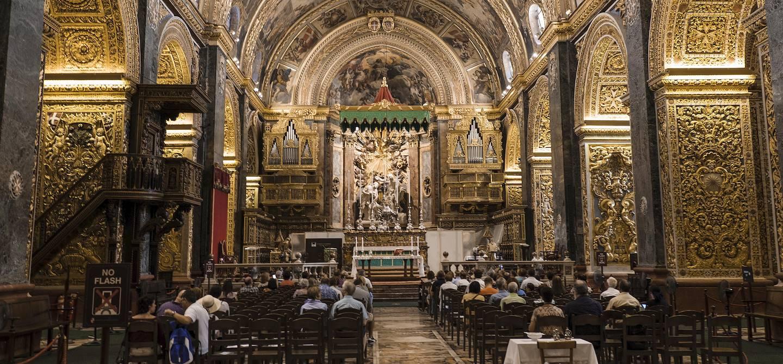 Intérieur de la co-cathédrale Saint-Jean de La Valette - La Valette - Malte
