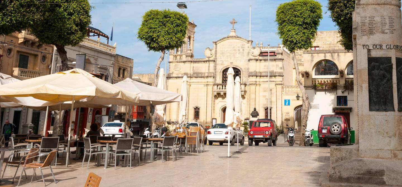 Pjazza Indipendenza à Victoria - Ile de Gozo - Malte