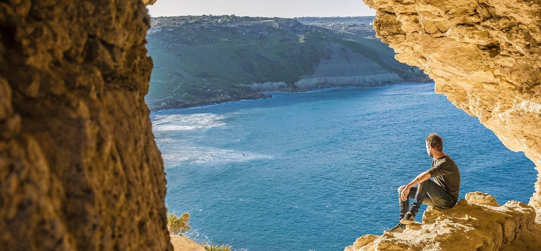 Grotte de Tal-Mixta - Baie de Ramla - Gozo - Malte