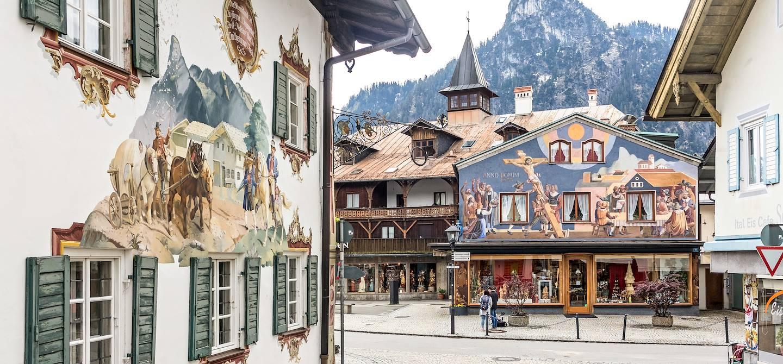 Les façades peintes d'Oberammergau - Haute-Bavière - Allemagne