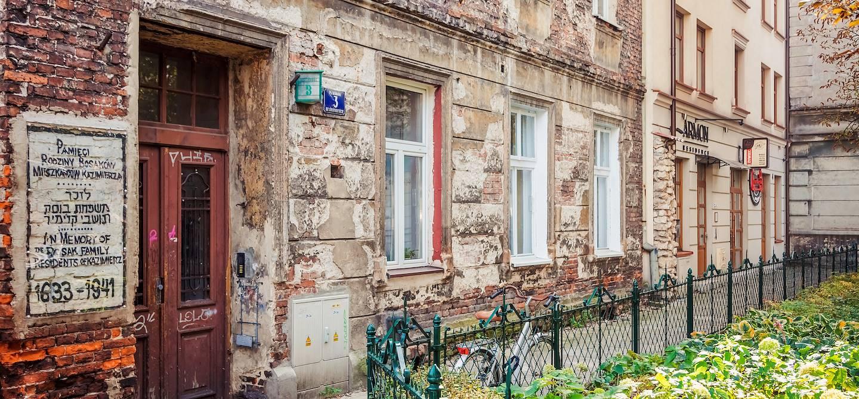 Vieux bâtiment dans le quartier juif de Cracovie - Pologne