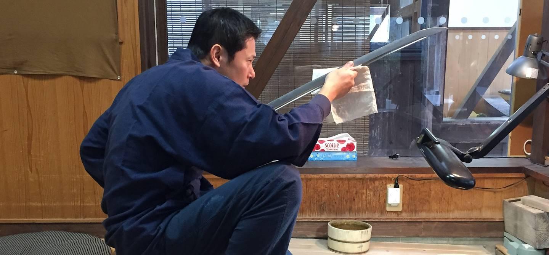 Fabrication d'un sabre japonais à Bizen - Ile de Honshu - Japon