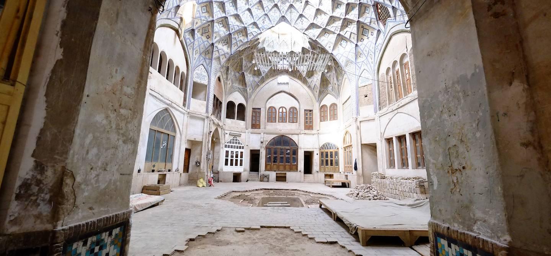 Bazar et Caravanserail à Kashan - Province d'Ispahan - Iran