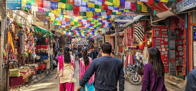 Dans les rues du quartier Thamel - Katmandou - Népal