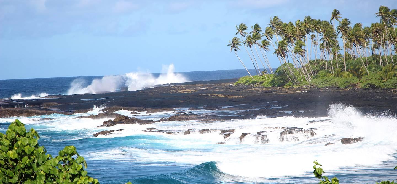 Alofaaga blowholes - Savaii - Samoa