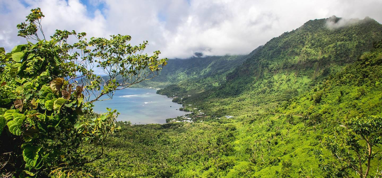 L' île de Upolu dans l'archipel des Samoa