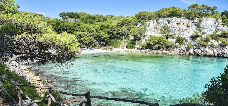 Plage de Cala Macarella à Minorque - Les Baléares - Espagne