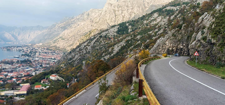 Route reliant Kotor à Cetinje - Monténégro