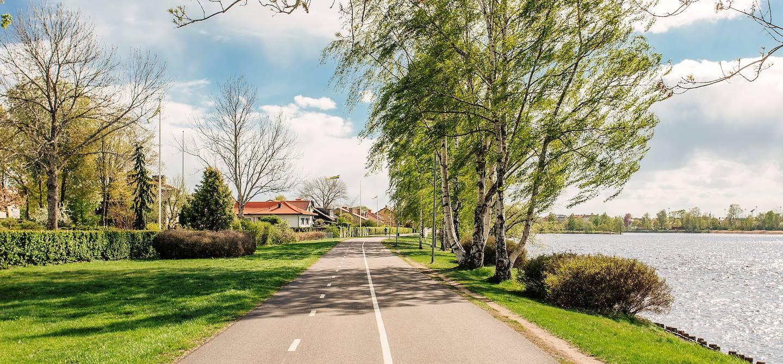 Chemin au bord du fleuve Klarälven, près de Karlstad - Värmland - Suède