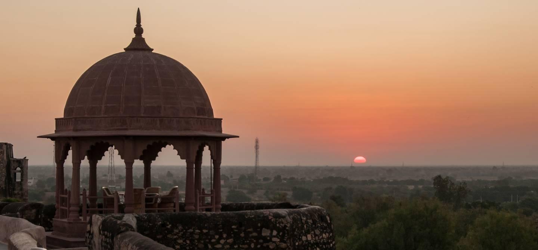 Vue sur le désert depuis le Khimsar Fort Hotel - Rajasthan - Inde