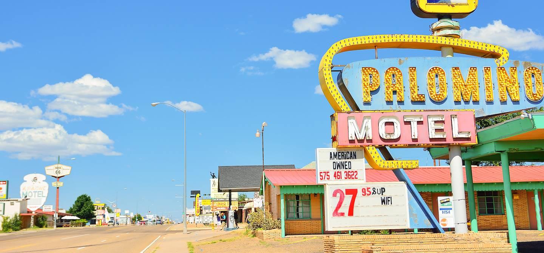 Le Palomino Motel sur la route 66 - Tucumcari - Nouveau Mexique - Etats-Unis