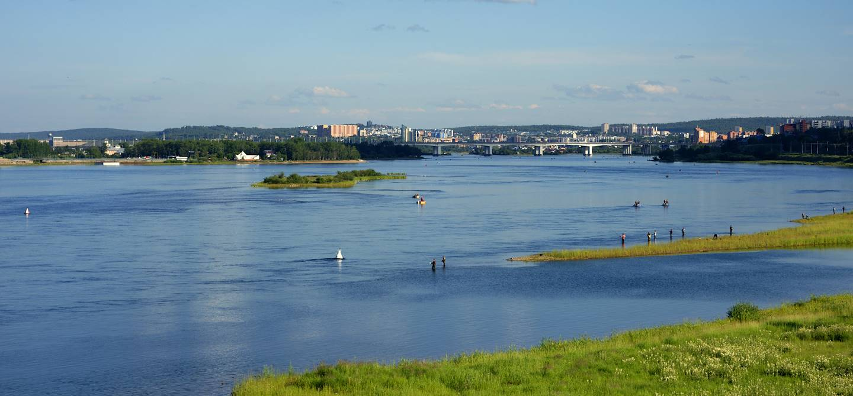 Rivière Angara - Irkutsk - Russie