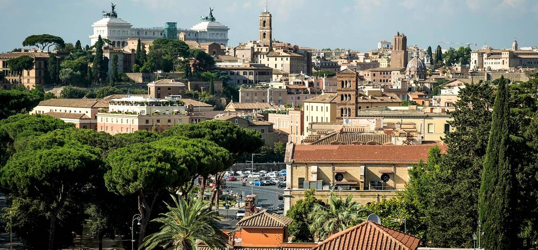 Vue sur Rome depuis le jardin Giardino degli Aranci - Italie