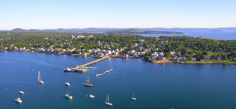 Vue aérienne de Saint Andrews - Nouveau-Brunswick - Canada