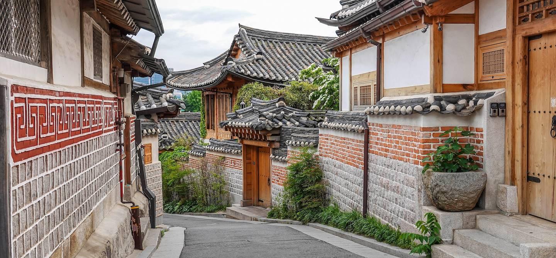 Dans les rues du village de Bukchon - Séoul - Corée du Sud