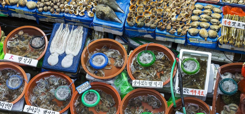 Marché aux poissons et fruits de mer à Noryangjin - Séoul - Corée du Sud