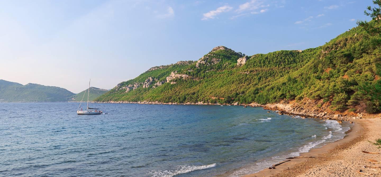 Plage de Przina - Lumbarda - île de Korcula - Croatie