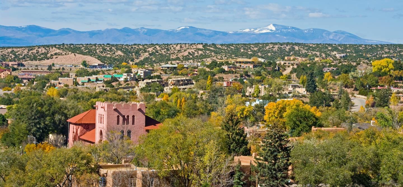 Vue générale sur la ville - Santa Fe - Etats-Unis