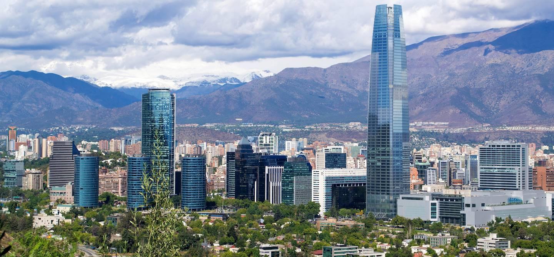 Panorama sur Santiago - Chili