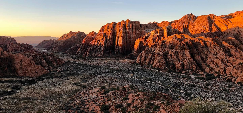 Coucher de soleil dans le parc de Snow Canyon - Utah - Etats-Unis