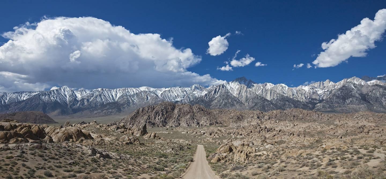 Flat Road et Mount Whitney - Sierra Nevada - Californie - Etats-Unis