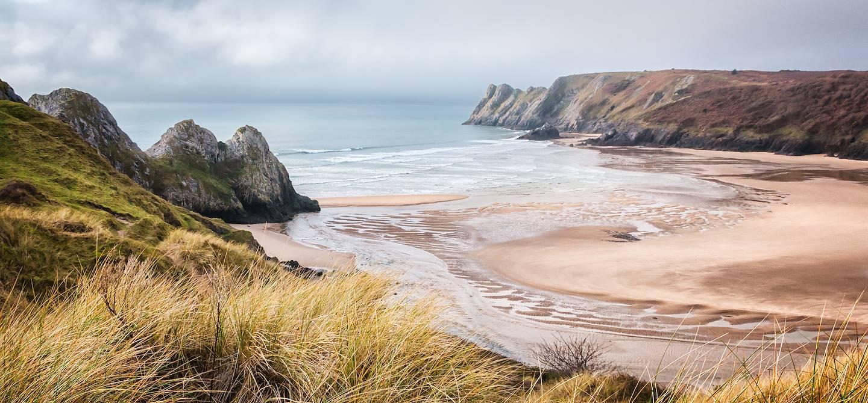 Three Cliffs Bay - Péninsule de Gower - Comté de Swansea - Pays de Galles