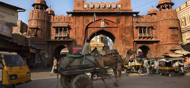 Porte dans la vieille ville de Bikaner - Inde