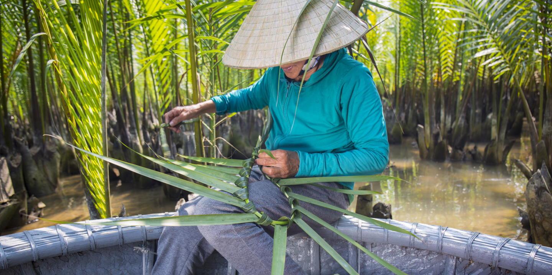 Balade en barque de bambou à travers la mangrove - Hoi An - Vietnam