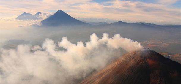 Volcans Pacaya, Fuego et Acatenango