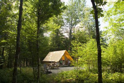 Tente Huttopia - Québec - Canada - Sepaq