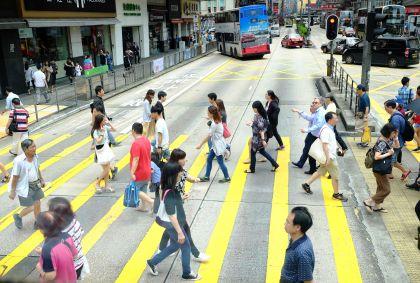Dans les rue de Hong Kong - Chine - Maryline Goustiaux