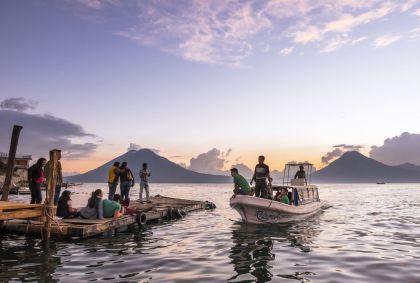 Panajachel sur les rives du lac Atitlan, département de Solola - Guatemala - Franck Guiziou/hemis.fr