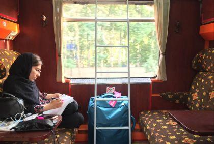 Dans un train de nuit - Iran - Maryline Goustiaux