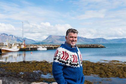 Portrait du propriétaire de Ektafiskur, restaurant et entreprise de production de poissons salés - Hauganes - Nord - Islande - Milan Szypura/Haytham-REA/Comptoir des Voyages