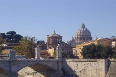 Pont Saint Ange et basilique Saint Pierre - Rome - Italie - Cécile Carvaglio
