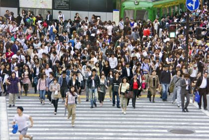 Foule sur un passage piéton - Tokyo - Japon - Maryline Goustiaux