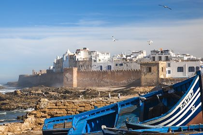 Vue de la médina d'Essaouira depuis le port - Maroc - Jon Arnold Images/hemis.fr