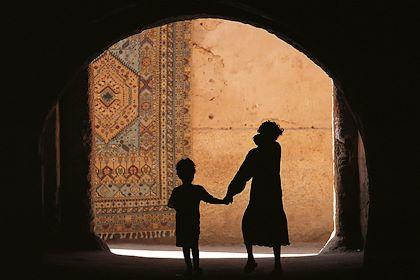 Silhouette d'enfants - Maroc - Christophe Boisvieux/hemis.fr