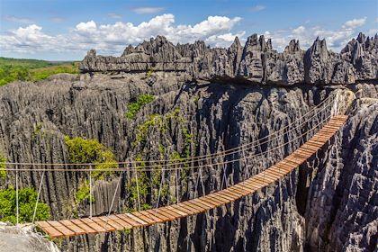 Pont de singe au parc national tsingy de Bemaraha - Madagascar - Aylerein/fotolia.com