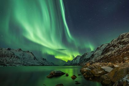 Aurore boréale dans la région de Tromsø - Norvège - jamenpercy/fotolia.com