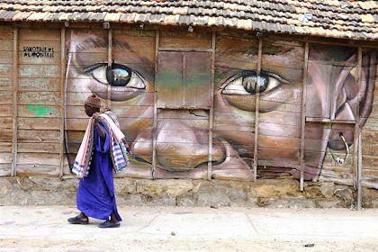 Street art dans le quartier de la Médina de Dakar - Région de Dakar - Sénégal - Maryline Goustiaux