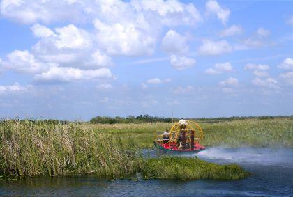 A bord d'un airboat dans les Everglades - Floride - Etats-Unis - Lunamarina/fotolia.com